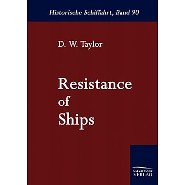 Resistance Of Ships German Edition, New Book (9783861950929)