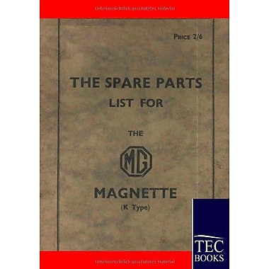 Spare Parts Lists For The Mg Magnette, New Book (9783861951889)