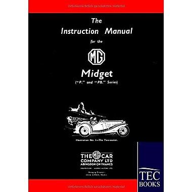 Instruction Manual For The Mg Midget Ppb Series, New Book (9783861951834)