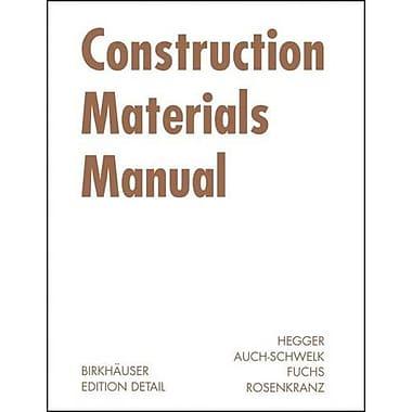 Construction Materials Manual Construction Manuals Englisch, New Book (9783764375706)