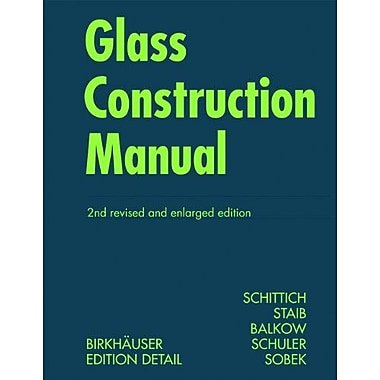 Glass Construction Manual Construction Manuals Englisch, New Book (9783764382902)