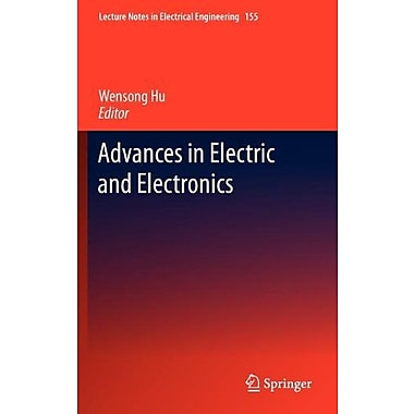 Advances In Electric And Electronics Lecture Notes In Electrical Engineering, New Book (9783642287435)