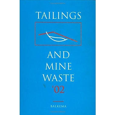 Tailings Amp Mine Waste 02, New Book (9789058093530)