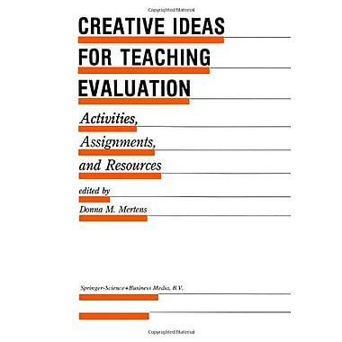 Creative Ideas For Teaching Evaluation Activities Assignments And Resources Evaluation In Education An, New Book (9789048157808)