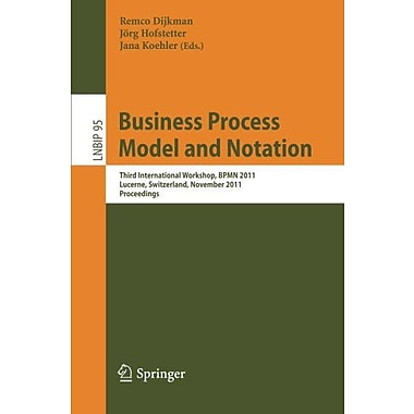 Business Process Model And Notation Third International Workshop Bpmn 2011 Lucerne, New Book (9783642251597)