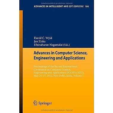 Advances In Computer Science Engineering Amp Applications Proceedings Of The Second International Conf, New Book (9783642301568)