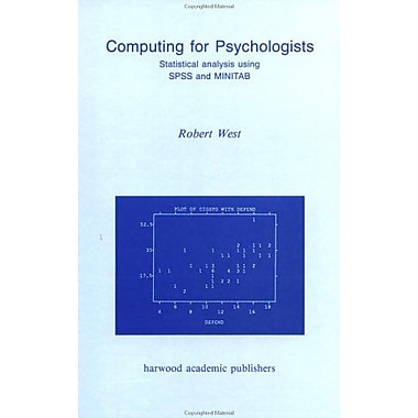 Computing For Psychologists Statistical Analysis Using Spss And Minitab, New Book (9783718650859)