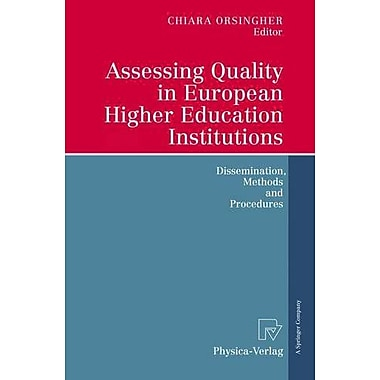 Assessing Quality In European Higher Education Institutions Dissemination Methods And Procedures, New Book (9783790816594)
