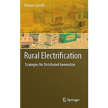 Rural Electrification Strategies For Distributed Generation, New Book (9789048195930)