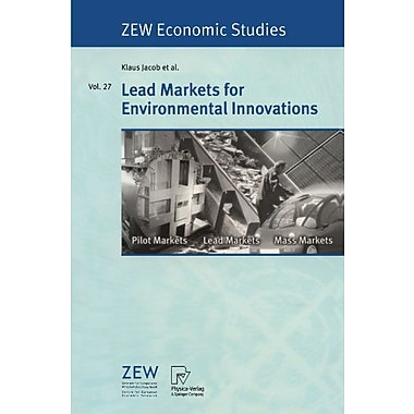 Lead Markets For Environmental Innovations Zew Economic Studies, New Book (9783790801644)