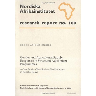 Gender And Agricultural Supply Responses To Structural Adjustment Programmes A Case Study Of Smallhold, New Book (9789171064400)