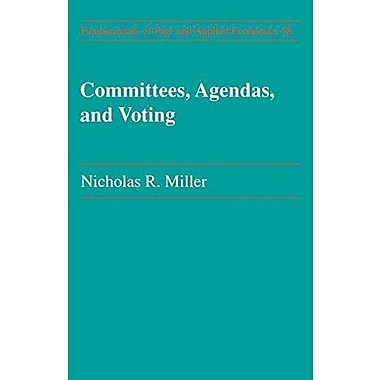 Committees Agendas Amp Voting Fundamentals Of Pure And Applied Economics, New Book (9783718655694)