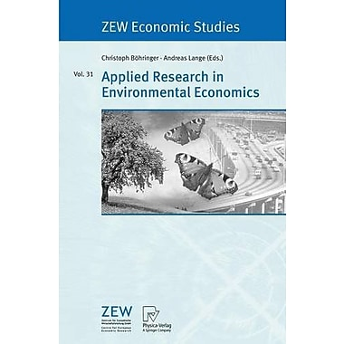 Applied Research In Environmental Economics Zew Economic Studies, New Book (9783790815870)
