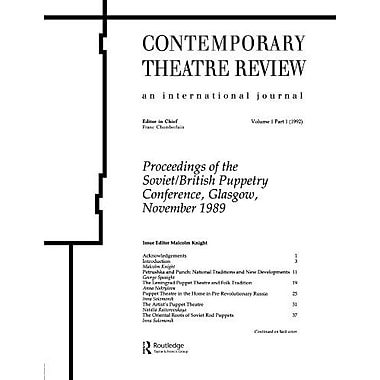 Process Of The Sovietbritish Proceedings Of The Soviet-British Puppetry Conference, New Book (9783718652693)