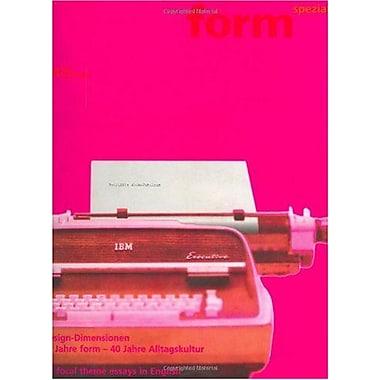 Form Spezial Nr 1 Design Dimensionen German Edition, New Book (9783764368784)