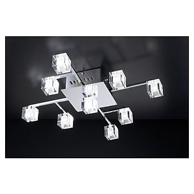 PLC Lighting D'oro 9-Light Semi Flush Mount