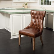 Home Loft Concepts Berlin Genuine Leather Upholstered Dining Chair