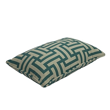 Easy Way Products Premium Single Piped Zippered Lumbar Pillow; 13'' H x 21'' W