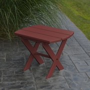 A&L Furniture Folding End Table; Cherry Wood