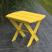 A&L Furniture Folding End Table; Lemon Yellow