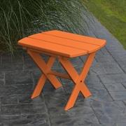 A&L Furniture Folding End Table; Tangerine