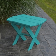 A&L Furniture Folding End Table; Aruba Blue