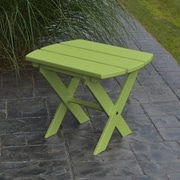 A&L Furniture Folding End Table; Tropical Lime