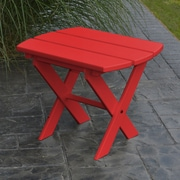 A&L Furniture Folding End Table; Bright Red