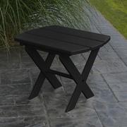 A&L Furniture Folding End Table; Black