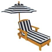 KidKraft Kids Chaise Lounge w/ Cushion and Umbrella