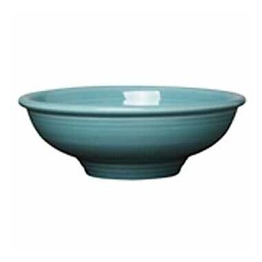 Fiesta Pedestal Serving Bowl; Turquoise