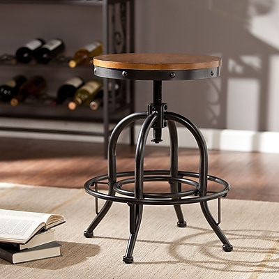Southern Enterprises Industrial Adjustable Stool (BC2453)