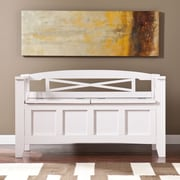 Southern Enterprises Cutler Storage Bench, White (BC2826)