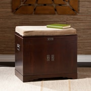 """Southern Enterprises 21"""" Collection Chest with Tray Organizer, Espresso (BC3482)"""