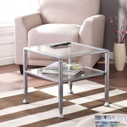 Southern Enterprises Metal/Glass Cocktail Table, Silver (CK0770)