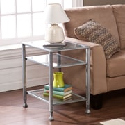 Southern Enterprises Metal/Glass End Table, Silver (CK0772)