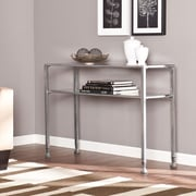 Southern Enterprises Metal/Glass Metal Console Table, Silver, Each (CK0773)