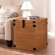 "Southern Enterprises Notch Groove 24"" Trunk End Table (CK1725)"