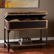 Southern Enterprises Drifton Medium Density Fiberboard Console Table, Black, Each (CK3183)