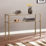 Southern Enterprises Metal/Glass Console Table, Matte Gold (CK3773)