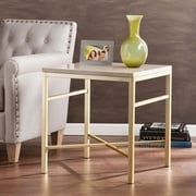 Southern Enterprises Orinda Medium Density Fiberboard End Table, Gold, Each (CK3942)