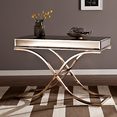 Southern Enterprises Ava Metal Console Table, Gold, Each (CK4273)