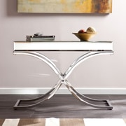 Southern Enterprises Ava Metal Console Table, Chrome, Each (CK4373)