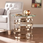 Southern Enterprises Belmar Metal End Table, Gold, Each (CK5432)