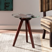 Southern Enterprises Blossom Wood End Table, Cherry, Each (CK7572)