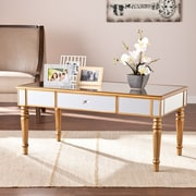 Southern Enterprises Brandilyn Mirrored Cocktail Table, Champagne Gold (CK8430)
