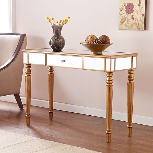 Southern Enterprises Brandilyn Wood Console Table, Gold, Each (CK8433)