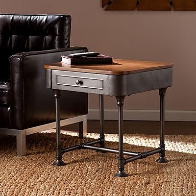 Southern Enterprises Edison Medium Density Fiberboard End Table, Gray, Each (CK9152)