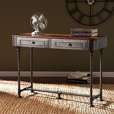 Southern Enterprises Edison Medium Density Fiberboard Console Table, Gray, Each (CK9153)