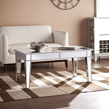 Southern Enterprises Mirage Mirrored Cocktail Table (CK9169)